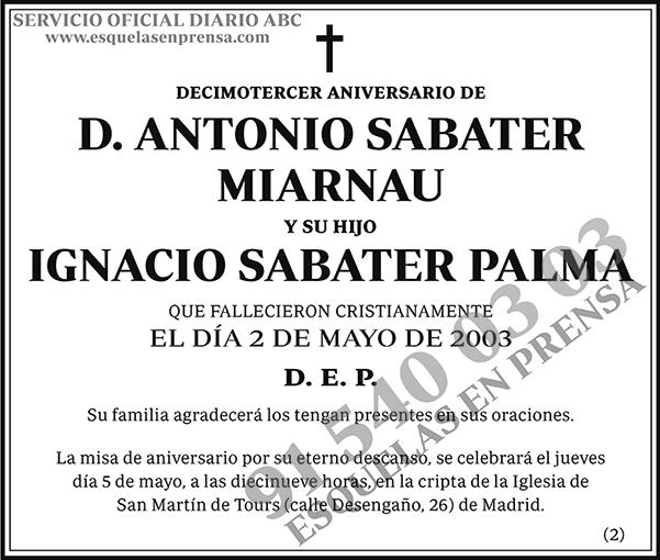 Antonio Sabater Miarnau e Ignacio Sabater Palma